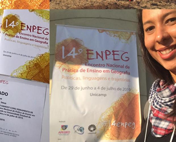 Mestranda da Univás participa de Encontro Nacional de Prática de Ensino em Geografia