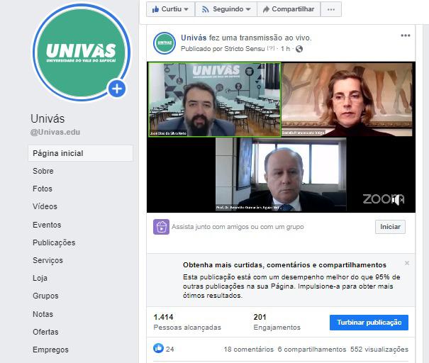 Univás realiza Webinar com o presidente da CAPES